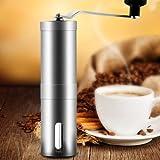 Aidle macinino da caffè in acciaio inossidabile spazzolato da Integrity Chef - Burr Mill Premium in ceramica, fabbricazione professionale di precisione, disegno ergonomico, grande regalo