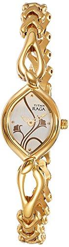 Titan Raga Analog Gold Dial Women's Watch - NE2455YM01