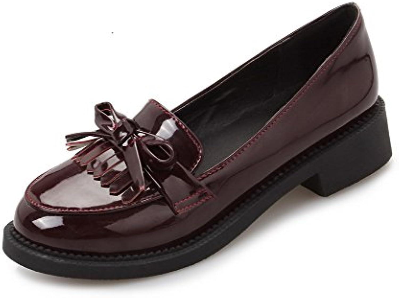 odomolor woHommes 's round à talons bas solide tep tep tep chaussures, Marron , 37 b07bbctn6w parent a68e96
