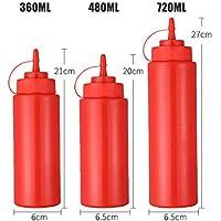 Kitchen Condiment Dispenser 3 Loch Deckel Kunststoff Squeeze Flasche für Sauce