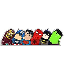 SUPERHERO engomada del coche Ironman Capitán América Superman Spiderman Batman y Hulk