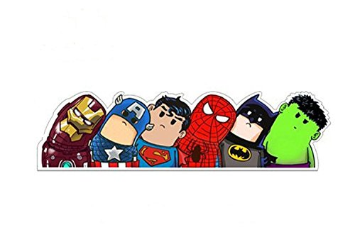 Adesivo da auto, motivo supereroi Spiderman, Iron Man, Capitan America, Hulk, Batman, Superm