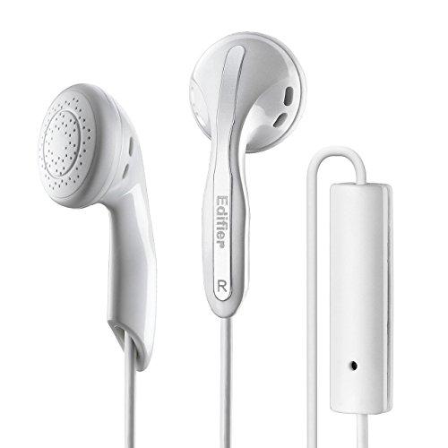 Edifier P180 Kopfhörer Mit Mikro Und Inline-Fernbedienung Stereo Ohrhörer Kopfhörer Und Fernbedienung Für Apple iPhone Samsung HTC Nokia Mit Mikrophon Weiß (Kopfhörer-fernbedienung)