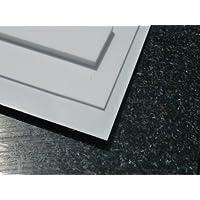 Platte aus PTFE, weiß, 195 x 195 x 2,0 mm (Teflon) Zuschnitt PTFE Dichtung