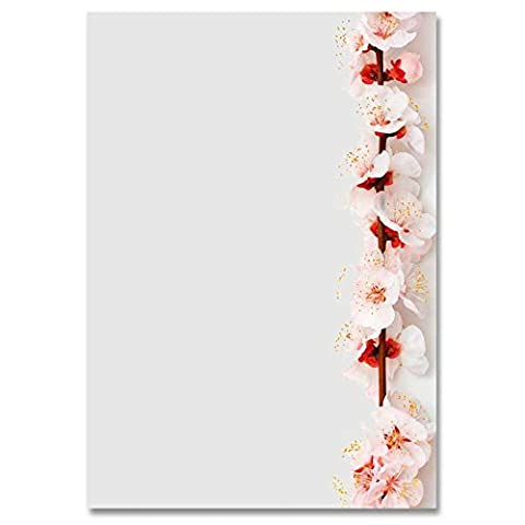 Stationery paper CHERRY BLOSSOMS DIN A5 paper format 100 sheets