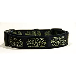 La Guerra De Las Galaxias Star Wars Logo Collar Perro Hecho a Mano Talla XL sin Correa Dog Collar HandMade