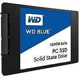 """WD Blue SSD - Disco duro sólido de 250 GB (SATA III a 6 Gb/s, carcasas de 2,5"""" / 7 mm, lectura secuencial de hasta 540 MB/s)"""