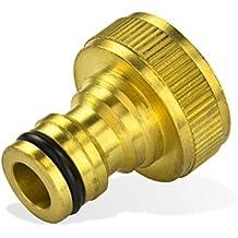tecuro Hahnanschlussstück mit Steckkupplung und 3/4 Zoll Innengewinde - ms-blank
