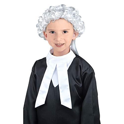 OUTAI Kinder Anwalt Judge Robe Kostüm Rollenspielanzug rot schwarz ()