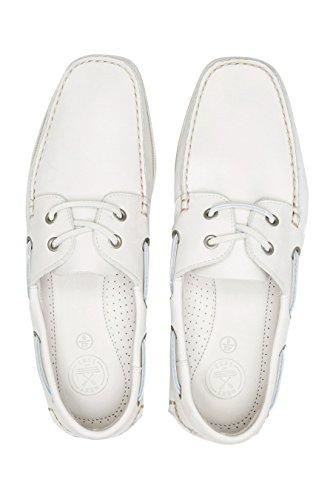 next Chaussures Bateau En Nubuck Standard Homme Blanc