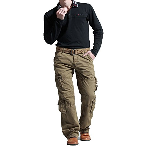 newfacelook Men's Cargo Trousers Combat Military Jeans Work Wear Pants