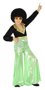 Atosa 28317 - Disco Dancer, joven, verde, tamaño 140, negro/verde