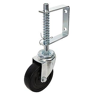 Fixman 455654 100mm Spring-Loaded Gate Castor Wheel 57kg Load Capacity