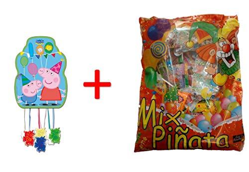 Peppa Pig 1182, piñata Perfil 33x46 cm, con Relleno de piñata (50 Productos, 834 Gramos)