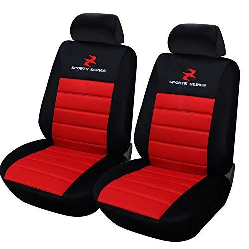 Einzelsitzbezug universal Sitzbezüge für Auto Schonbezug Schoner Dicke gepolstert rot ()