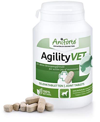 Gelenktabletten für Hunde AgilityVet - reicht für 120 Tage max., 120 natürliche Gelenk Tabletten mit Grünlippmuschel, Teufelskralle, Kollagen, Glucosamin, Chondroitin, Hyaluronsäure, Hohe Akzeptanz -