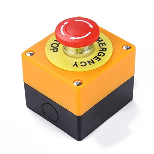Especificaciones:  Material: ABS + Metal  Voltaje: 660V  Actual: 10A  Tipo de acción: Self Locking  Tipo de contacto: 1 NO, 1 NC  Orificio de apertura: 22mm  Abertura de montaje: 54x48mm  Tamaño: 78x72x64mm  Características:  A prueba de explosiones ...
