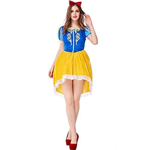 CJJC High School Girls Fairy Tales Kostüm, eleganter Karnevalsrock, Prinzessin Bühnenoutfit mit Kopfbedeckung M (Vampire School Girl Kostüm)