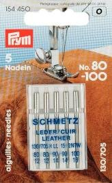 154450–Nähmaschinennadeln 130/705 Leder 80-100