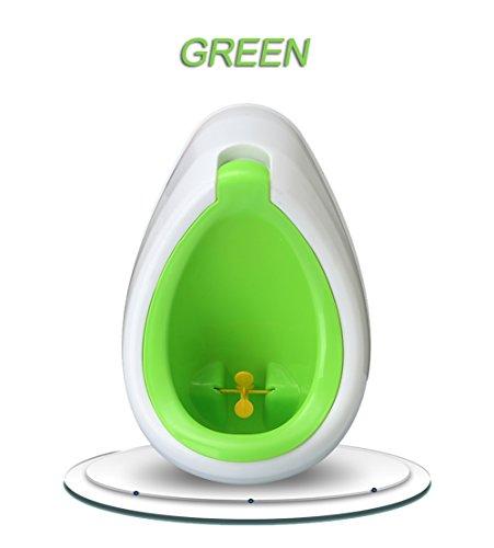 ZXYWW Junge Urinal Stehen WC Ausbildung Wassertropfen Form Töpfchen Ausbildung Vertikale Urinal Wand Kid Urinal Trainer Kunststoff,Green