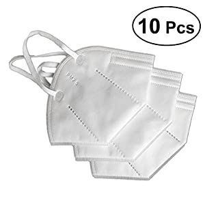 Healifty 10 Stück Einweg Gesichtsmaske Mundschutz Maske 3-Schichten Vlies Ohrbügel (Weiß)