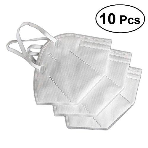 Einweg-luftfilter (HEALLILY Einweg-Aktivkohle-Gesichtsmasken Staubdicht PM2.5-Masken Reisen im Freien 10-TLG)