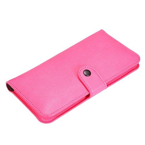 Phone case & Hülle Für IPhone 6 Plus / 6s Plus, Samsung Galaxy A8 / Note 5, Etc. 6,3 Zoll Universal Elefanten Haut Textur tragen Fall mit Wallet & Card Slots ( Color : Brown ) Magenta