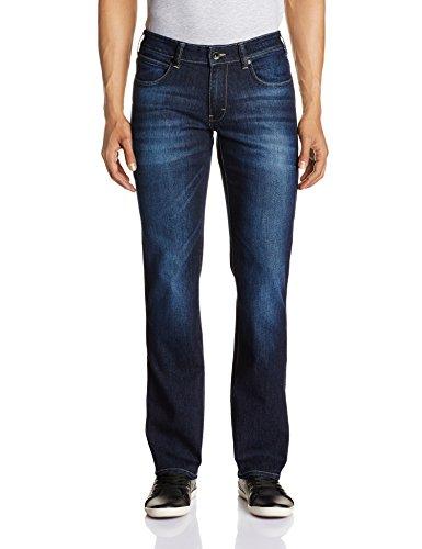 Wrangler Men's Floyd Straight Fit Jeans (8907222128241_WRJN5430_34_Dark Indigo)
