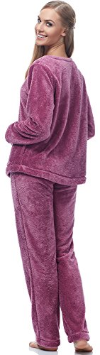 L&L Damen Schlafanzug PDGT7116 Pflaume