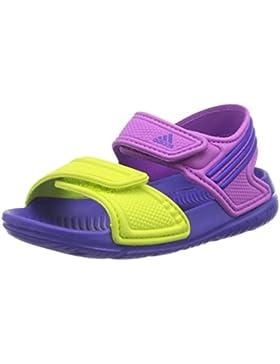Adidas - Chanclas de Material sintético para Niño Flash Pink s15/night Flash s15/semi Solar Yellow