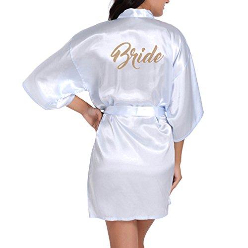 Yying Bride Robes Satin Bridal Party Robe Dressing