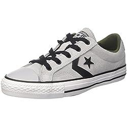 Converse Lifestyle Star Player Ox Suede Zapatillas de deporte Unisex adulto, Gris (Wolf Grey/Black/White 050), 39.5 EU (6.5 UK)