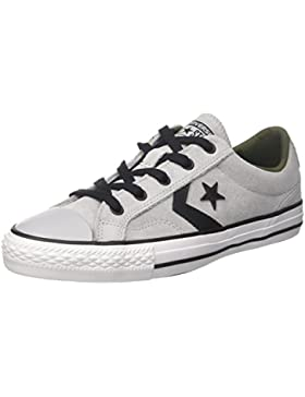 Converse Star Player Ox Wolf Grey/Black/White, Zapatillas Unisex Adulto