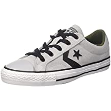 sports shoes f0bba 13879 Converse Star Player Ox Wolf Grey Black White Sneaker Unisex – Adulto