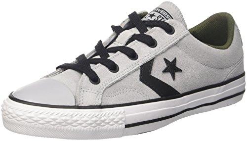 Converse Star Player Ox, Scarpe da Fitness Unisex-Bambini, Grigio (Wolf Grey/Black/White), 37 EU