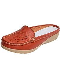 ALIKEEY La Mujer Casual Al Aire Libre En La Mitad Inferior De Cuñas Suave Deslizamiento Zapatilla Maiz Boat Shoes