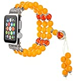 samLIKE Mode Sport Perlen Armband Armband für Apple Watch Series 3/2/1 38mm (Orange)