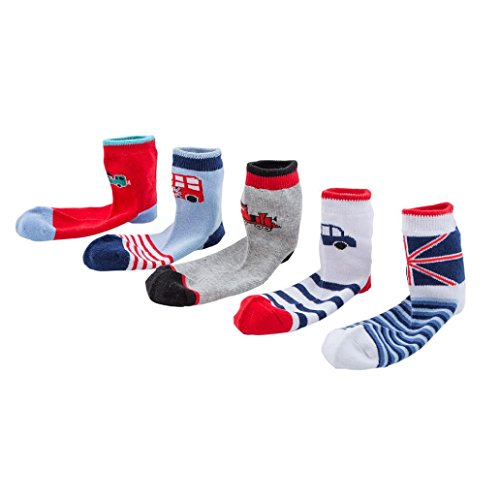 URSING (5 Paar Pack ) Baby Kinder Winter Kälteschutz Socken Wintersocken Füßlinge Antirutsch Babysocken Kindersocken Baumwolle Socken Erstlingssöckchen Anti-Rutsch Socken (M, mehrfarbig)