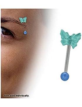 Body Jewelry–Butterfly Design Augenbrauen Schmuck Türkis