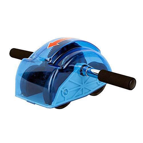 4-Rad Bauchtrainer Roller, Ab Unterstützung Frühling Design Aktualisierung Multifunktion Abdominal Kernmuskel Ausbildung Fitness Maschine (Farbe : Blau) (Roller Frühling Rad)