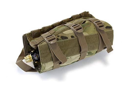 RAP4 MOLLE Horizontal Universal Paintball Airsoft Air Tank Pouch