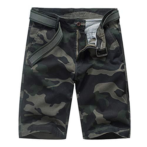 sunnymi  ® Herren Tarnen Hose Mode Baumwolle Multi-Tasche im Freien Arbeitshose Cargo Kurze ()