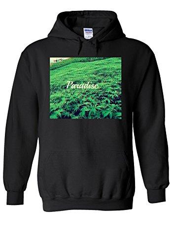 Paradise Weed High 3D Fun Novelty Black Men Women Unisex Hooded Sweatshirt Hoodie-L