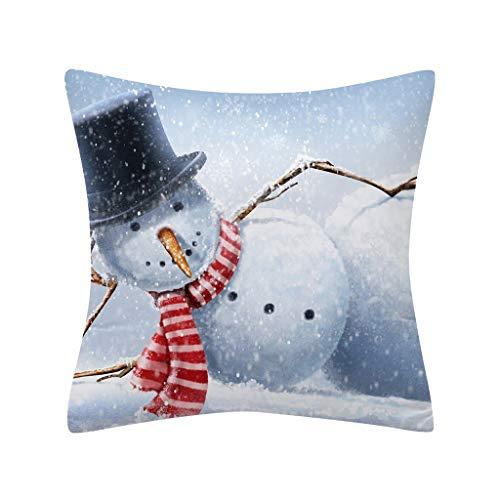 Weihnachten Nackenstützkissen XMoments Kissenbezug Ultra geometrische Kissen Cover für Bett Sofa Wohnzimmer Schlafzimmer Büros 45x45 cm Dekokissen Cover Home Decor -