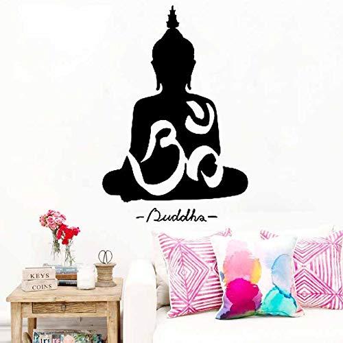 zqyjhkou Buddha Muslim Wandaufkleber Sofa Abnehmbare Wandaufkleber Vinyl Aufkleber Wohnkultur Für Muslime Wandtattoos A9-009 57X85 cm 009 Ram