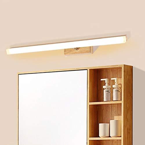 Nordic Massivholz Acryl Spiegel vorne Licht LED Badezimmer Spiegelschrank Licht mit ausziehbaren Lenksäule Wandleuchte (Größe: 60 cm)
