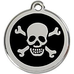 Red Dingo Médaille pour Chien Motif Tête de Mort Noir 30 mm