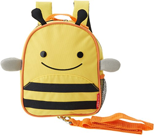 Skip Hop Zoo Safety Harness Bee - school bags (Backpack, Any gender, Toddler & preschool, Black, Orange, Yellow, Image, Mesh pocket)