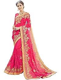 Miodis Fashion Chiffon Saree With Blouse Piece