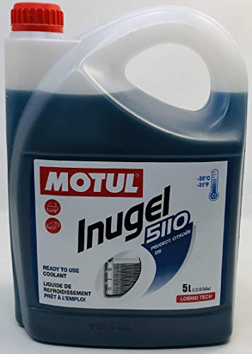 MOTUL Antifreeze Special Coolant Peugeot Citroen DS Engines - Inugel 5110, B71 5110 5 liters